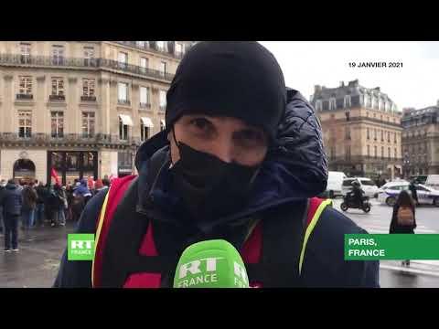 Paris : des compteurs Linky jetés devant le siège de la République en Marche