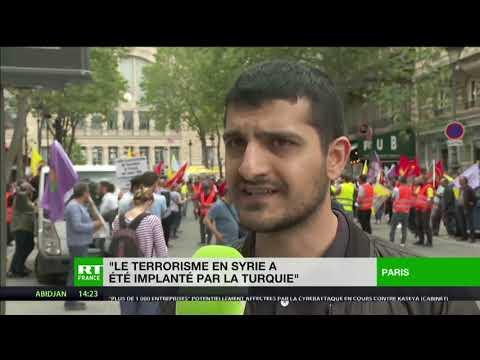 Paris : manifestation contre la campagne militaire turque au Sud-Kurdistan