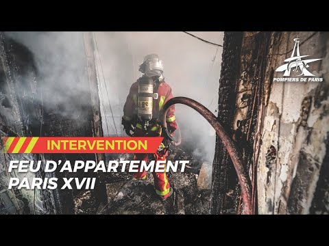 violent feu d'appartements dans le 17e arrondissement de Paris.