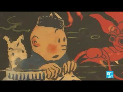 Tintin painting fetches record €3.2 million at Paris auction