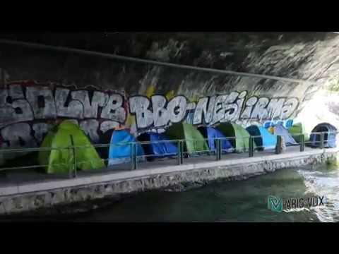 Campement migrants Porte d'Aubervilliers