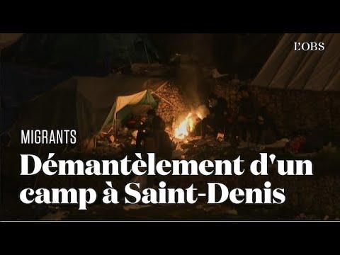 Un camp de migrants évacué au Nord de Paris