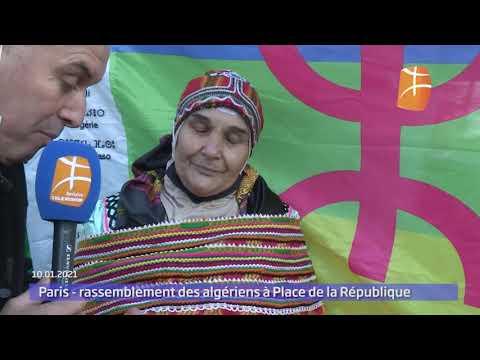 Paris : rassemblement des algériens à Place de la République
