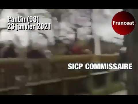 Pantin (93) : Un véhicule de police attaqué par plusieurs individus