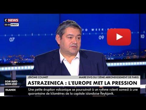 Jérôme Coumet, Maire du 13e à Soir info sur Cnews le 20 mars 2021