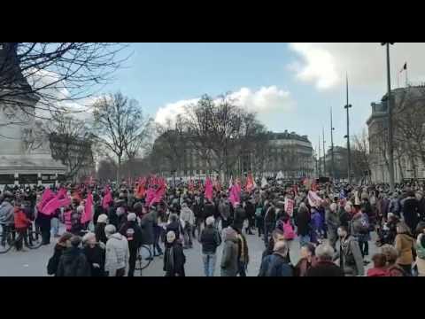 Manifestation pro Théo Place de la République