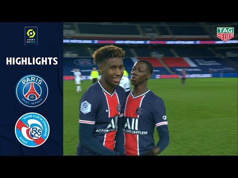 PARIS SAINT-GERMAIN - RC STRASBOURG ALSACE (4 - 0) - Highlights - (PSG - RCSA) / 2020-2021