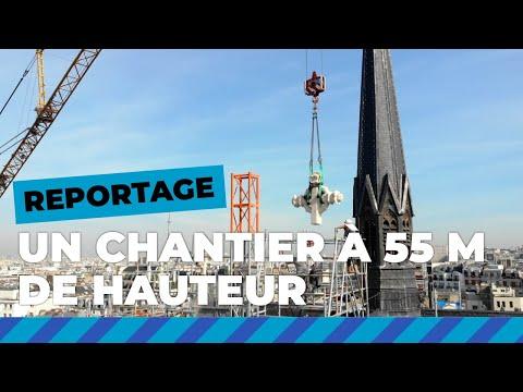 Repose des croix de la basilique Notre-Dame-du-Perpétuel-Secours à 55m de hauteur