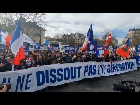 Manifestation contre la dissolution de Génération Identitaire - (20/02/2021)