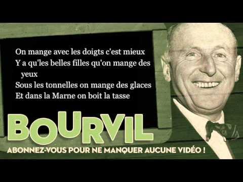 Bourvil - A Joinville le Pont - Paroles (Lyrics)