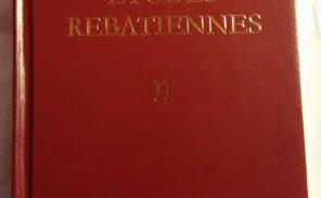 Sortie du numéro 2 des «Etudes Rebatiennes»
