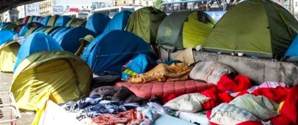 Paris : multiplication des campements de clandestins
