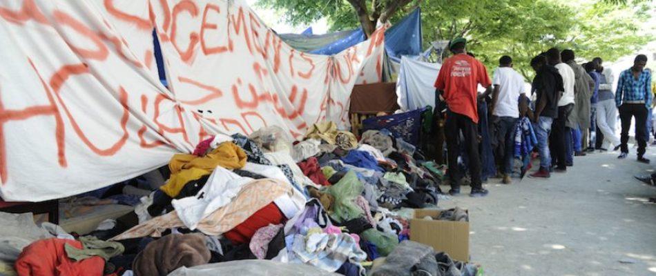 Nouvelle évacuation d'un camp de migrants clandestins