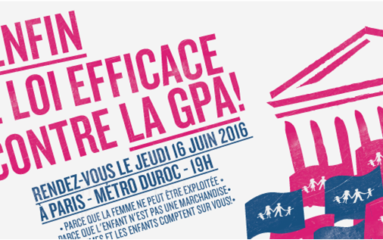 Manifestation pour « l'interdiction stricte » de la GPA