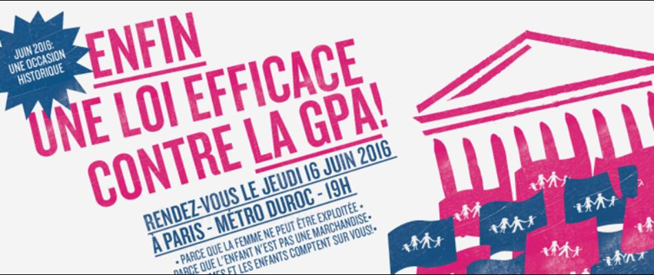 Manifestation pour «l'interdiction stricte» de la GPA