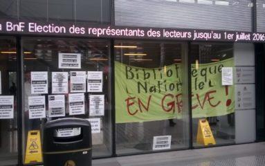La BNF bloquée par les grévistes