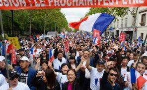 Aubervilliers: manifestation de la communauté chinoise