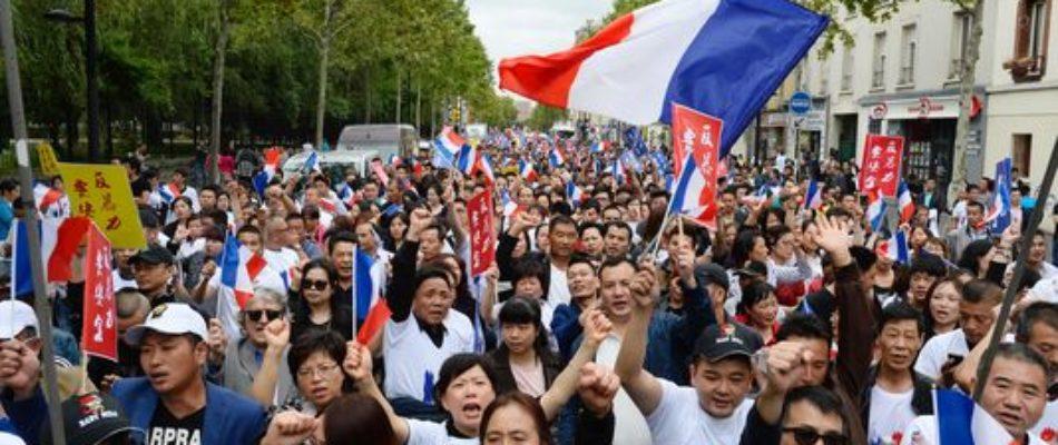 Aubervilliers : manifestation de la communauté chinoise