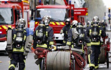 Les pompiers d'Ile de France en route vers le sud