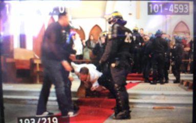 L'Eglise Sainte-Rita évacuée par les forces de l'ordre
