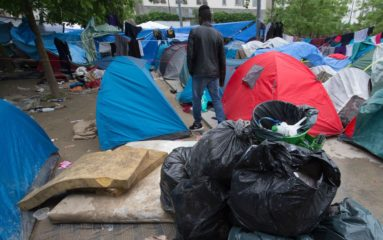 Nouveau campement de migrants au Nord de Paris