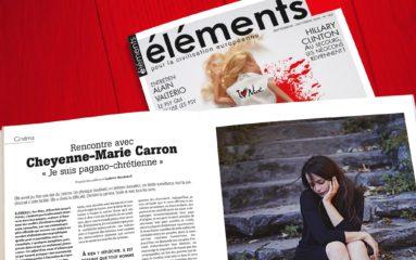 Revue Eléments: extraits de l'éditorial d'Alain de Benoist