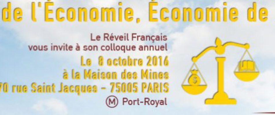Colloque du «Réveil Français»: culture de l'économie et économie de la culture