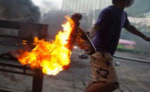 Attaque au cocktails molotov contre la police à Viry-Châtillon