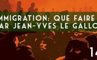 Conférence: Immigration que faire?