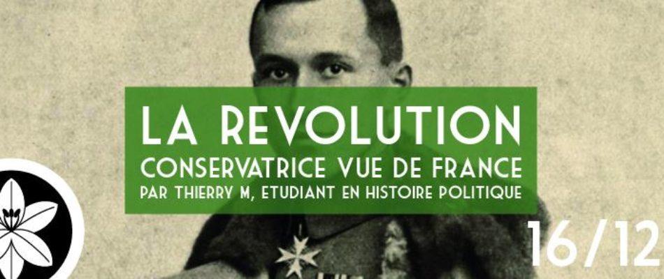 Conférence : « La révolution conservatrice vue de France »