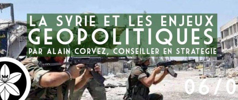 Conférence: la Syrie et les enjeux géopolitiques