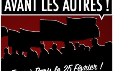 Samedi 25 février: manifestation «Les nôtres avant les autres»