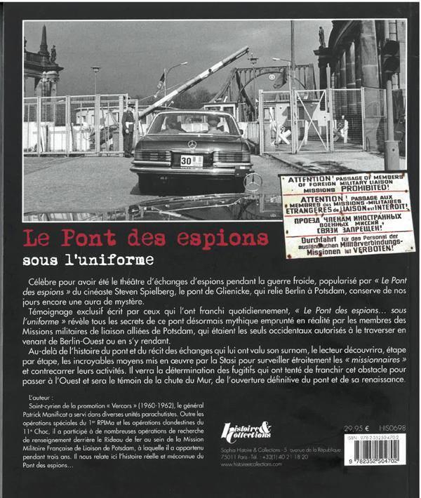 Livre Le Pont Des Espions Sous L Uniforme Parisvox