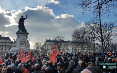 Manifestation «pro Théo» place de la République