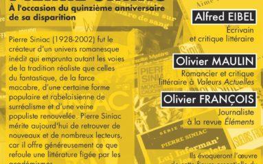 Littérature: hommage à Pierre Siniac