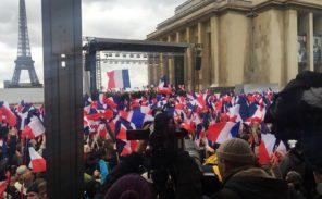 Mobilisation pro-Fillon au Trocadéro