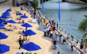 Paris Plages: plus de sable Lafarge sur les pavés!