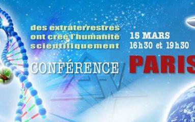 Le mouvement Raëlien tient conférence à Paris.