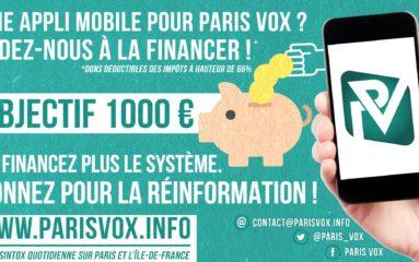 Bientôt, une appli mobile Paris Vox?