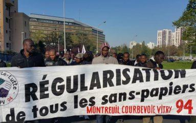 Nouvelle manifestation de travailleurs clandestins