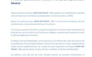 Manifestation de policiers à Paris