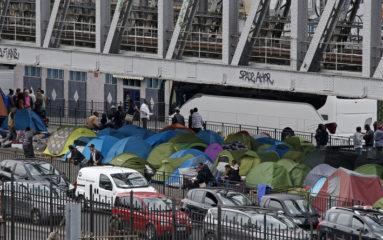 Plus d'un millier de migrants clandestins évacués des camps sauvages de Porte de la Chapelle