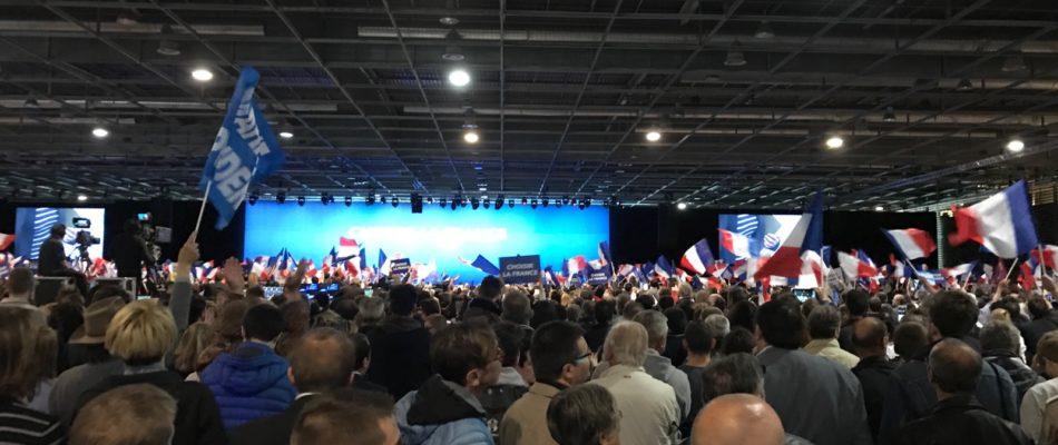 Meeting Marine Le Pen /Nicolas Dupont-Aignan à Villepinte