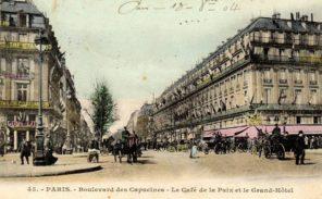 Histoire de Paris: Le boulevard et la rue des Capucines