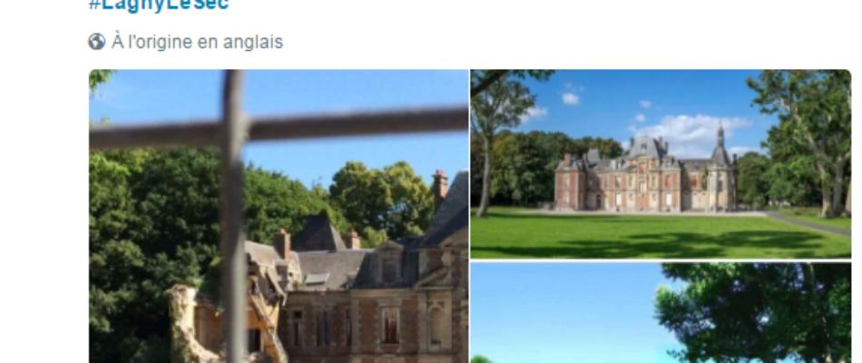Démolition d'un château dans l'Oise