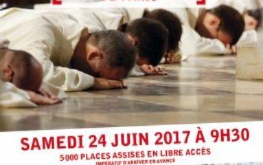 Messe d'ordination à Notre Dame de Paris