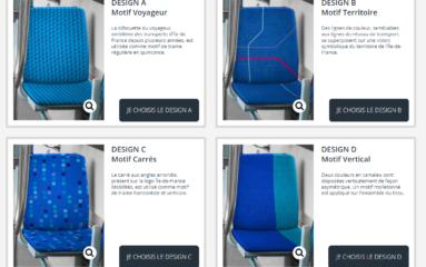 Transports publics en IDF: Choisissez les sièges de demain!