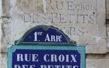 Histoire de Paris: La rue Croix-des-Petits-Champs