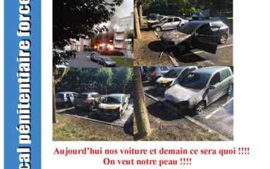 Des voitures de surveillants de prison incendiées