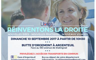 «Soyons Libres» : colloque de lancement en septembre